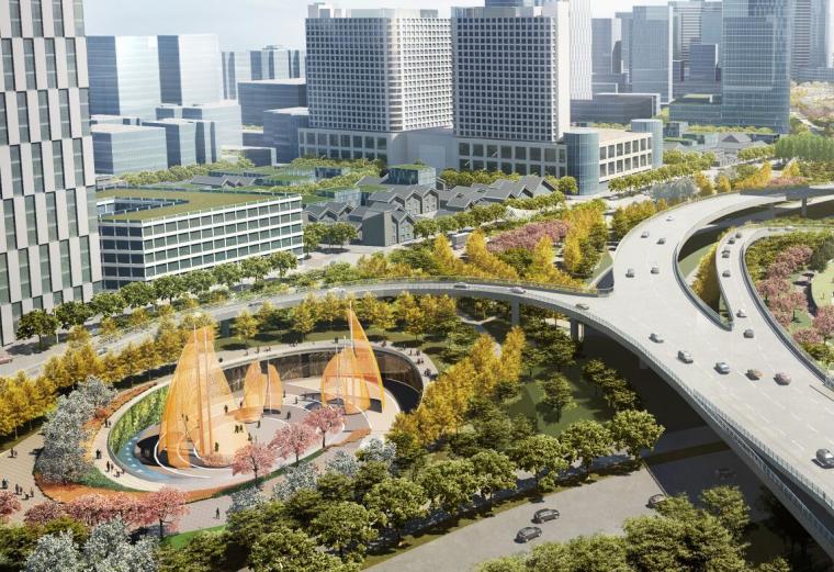 中央服务区核心道路及地下空间景观方案1_1