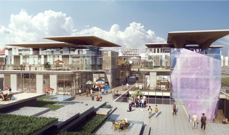 [江苏]大型现代风格多业态商业街区建筑方案_2