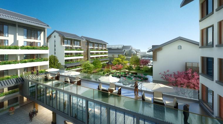 [浙江]现代中式复养老中心老年公寓建筑模型_1