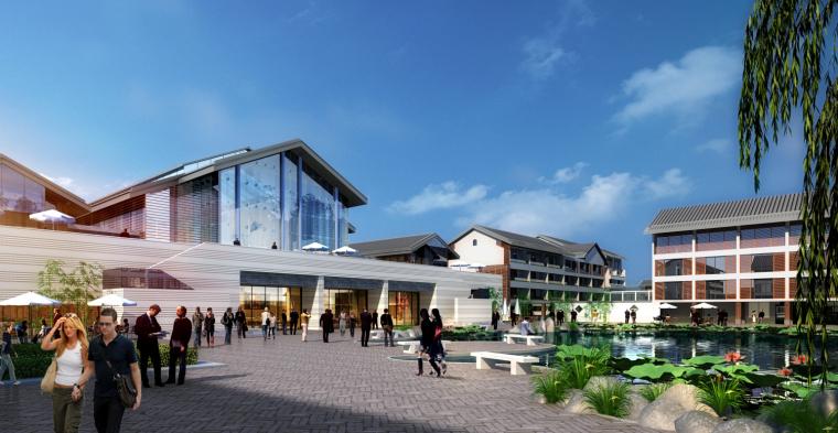 [浙江]现代中式复养老中心老年公寓建筑模型_5