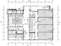 [山东]青岛居然之家顶层室内装修施工图设计