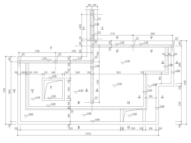 [昆明]示范区钢筋混凝土建筑结构施工图_2