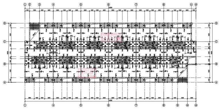 [贵州]6层框架结构宿舍楼结构施工图2020_2