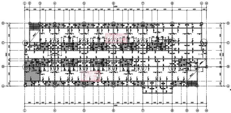 [贵州]6层框架结构宿舍楼结构施工图2020_4