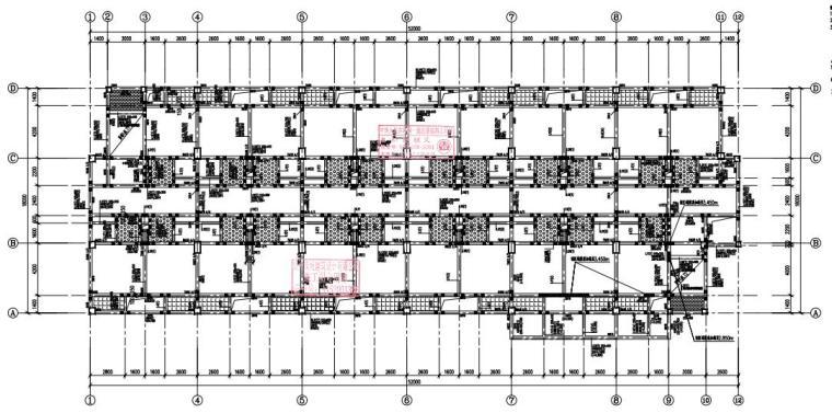 [贵州]6层框架结构宿舍楼结构施工图2020_3