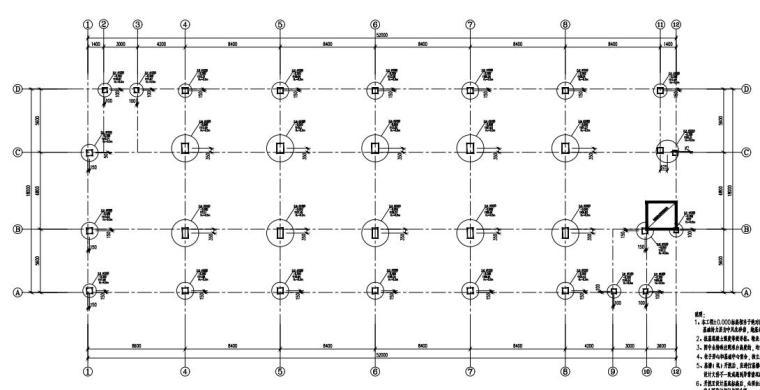 [贵州]6层框架结构宿舍楼结构施工图2020_5