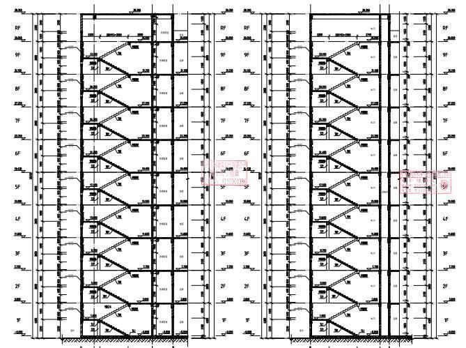 9层框架剪力墙结构男生宿舍结构施工图2020_6