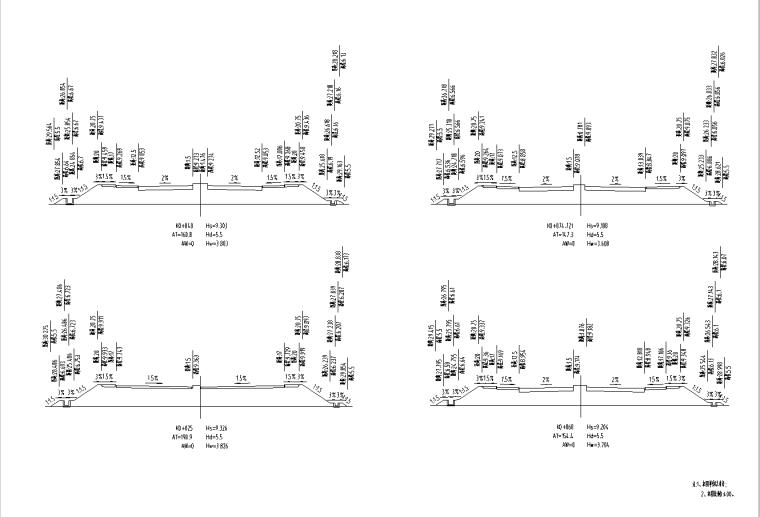 [广东]双向6车道城市主干路施工图纸全套_5