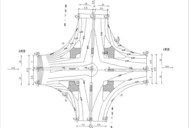 [广东]双向6车道城市主干路施工图纸全套_4