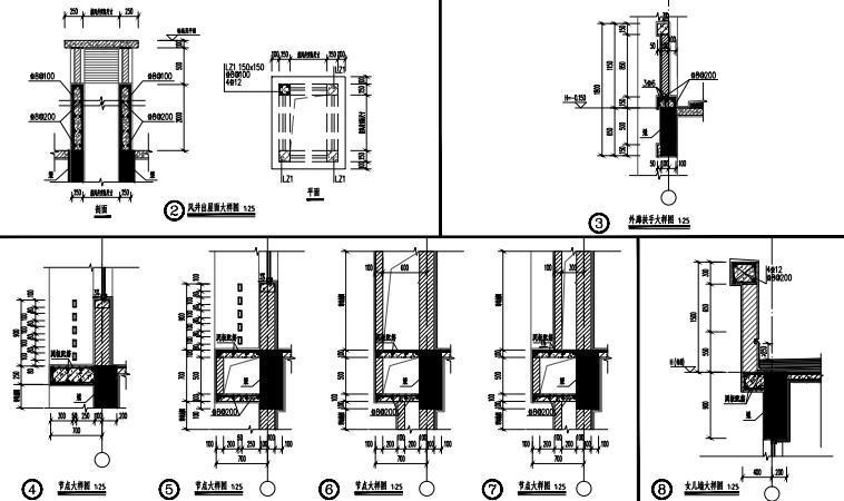 -1+4层多层框架结构实验楼结构施工图2020_6