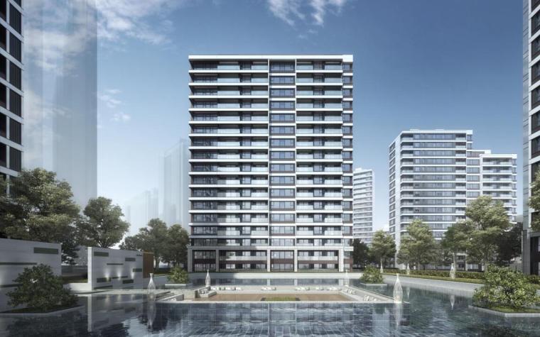 [上海]常规住宅类-售楼处项目立面造型方案_2