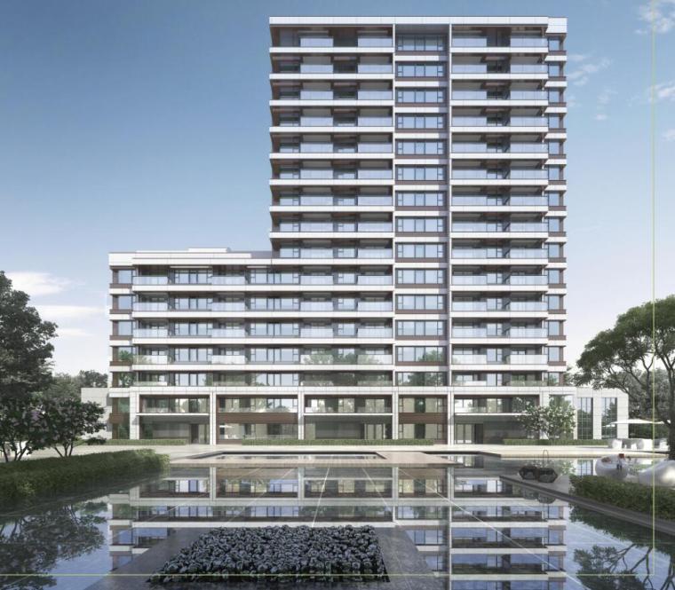 [上海]常规住宅类-售楼处项目立面造型方案_1