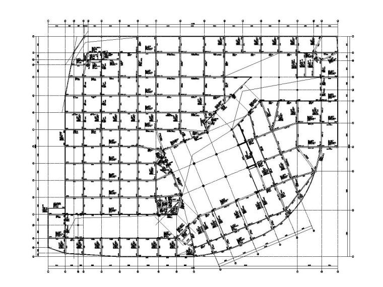3层框架结构旅游中心结构施工图CAD2019_1