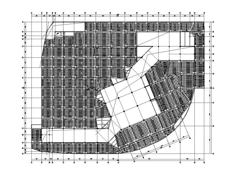 3层框架结构旅游中心结构施工图CAD2019_2