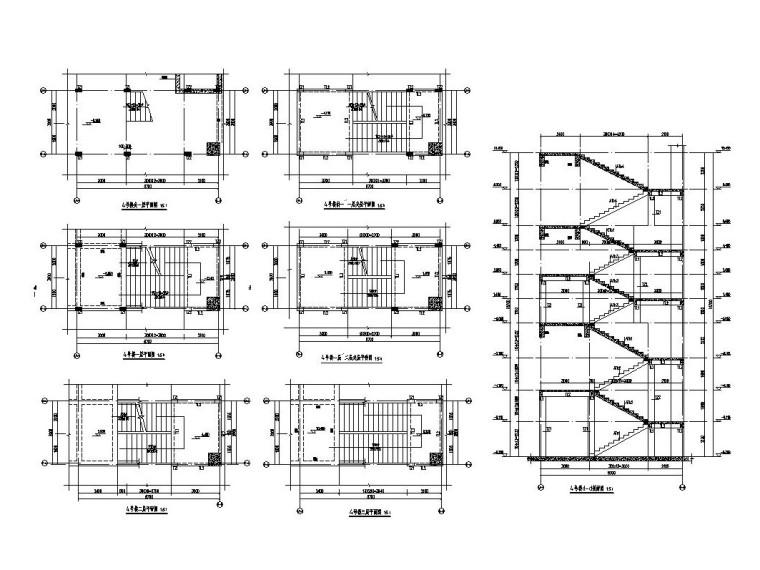 3层框架结构旅游中心结构施工图CAD2019_9