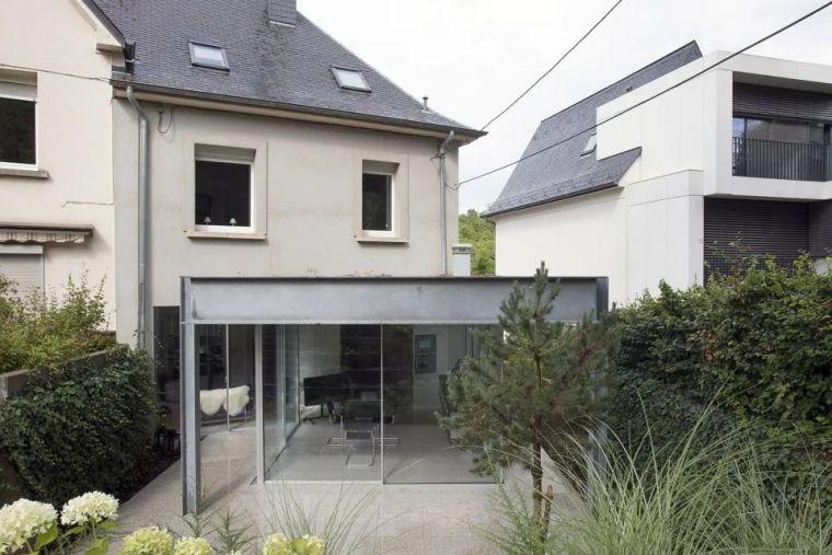 斜坡花园下的透明厨房-GALGEN住宅加建_2