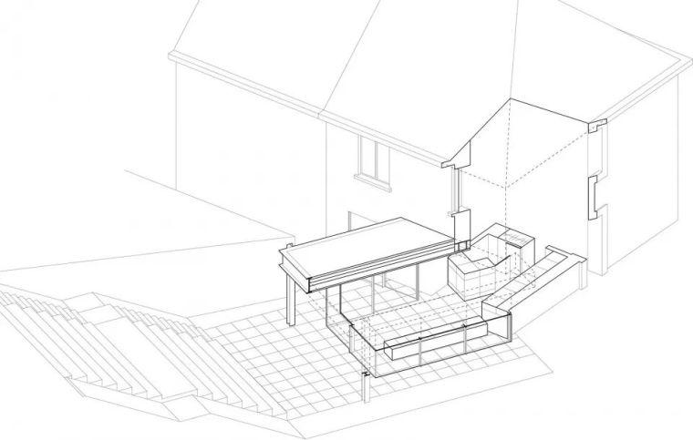 斜坡花园下的透明厨房-GALGEN住宅加建_5