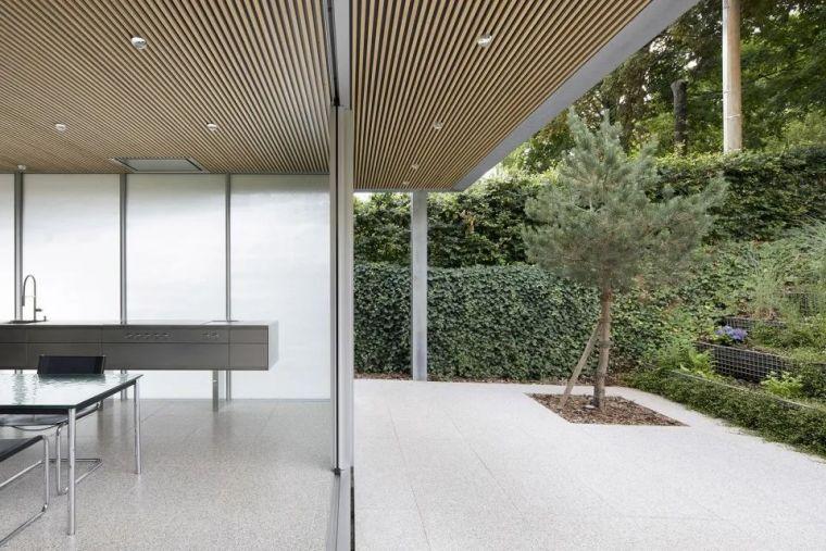 斜坡花园下的透明厨房-GALGEN住宅加建_14