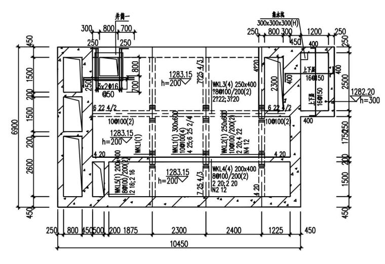 单层框架剪力墙污水处理厂结构施工图2020_1