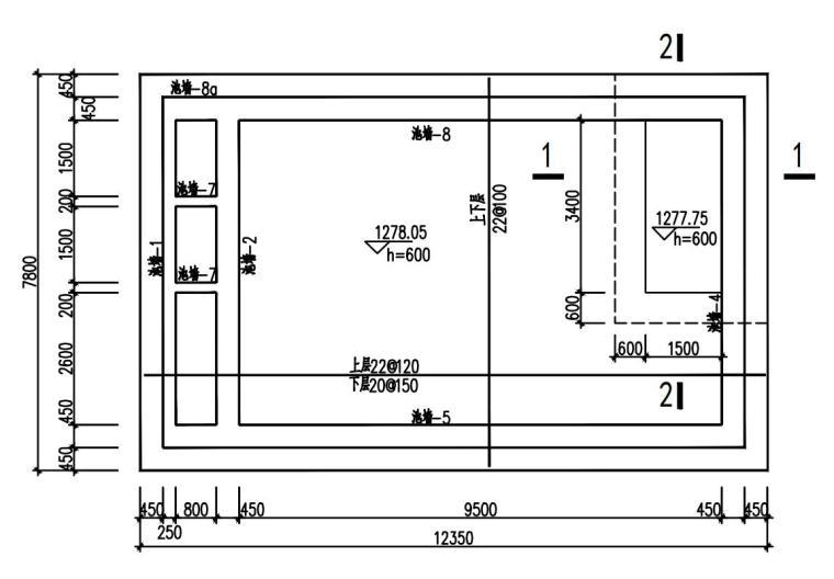 单层框架剪力墙污水处理厂结构施工图2020_2