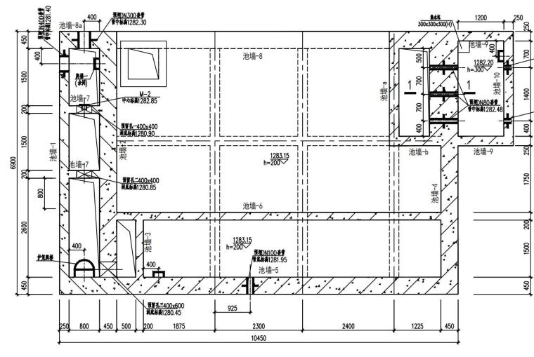 单层框架剪力墙污水处理厂结构施工图2020_3