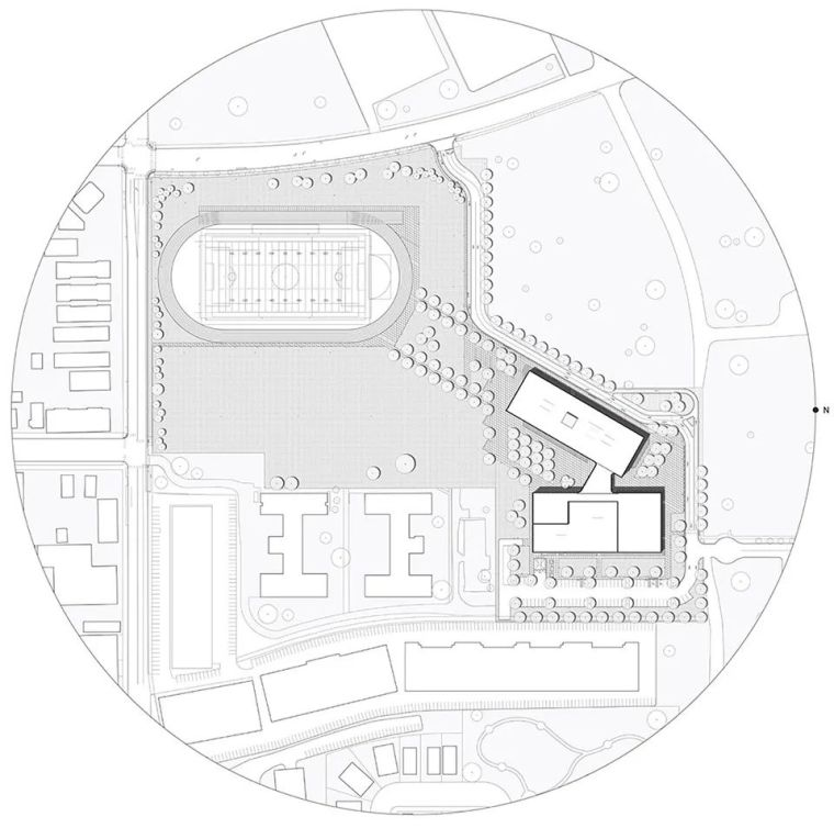 轻工业风格的砖砌教学楼-塔夫脱新生学院_14