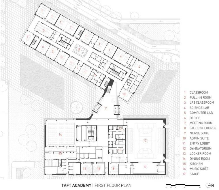 轻工业风格的砖砌教学楼-塔夫脱新生学院_15