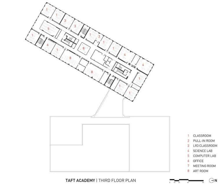 轻工业风格的砖砌教学楼-塔夫脱新生学院_17