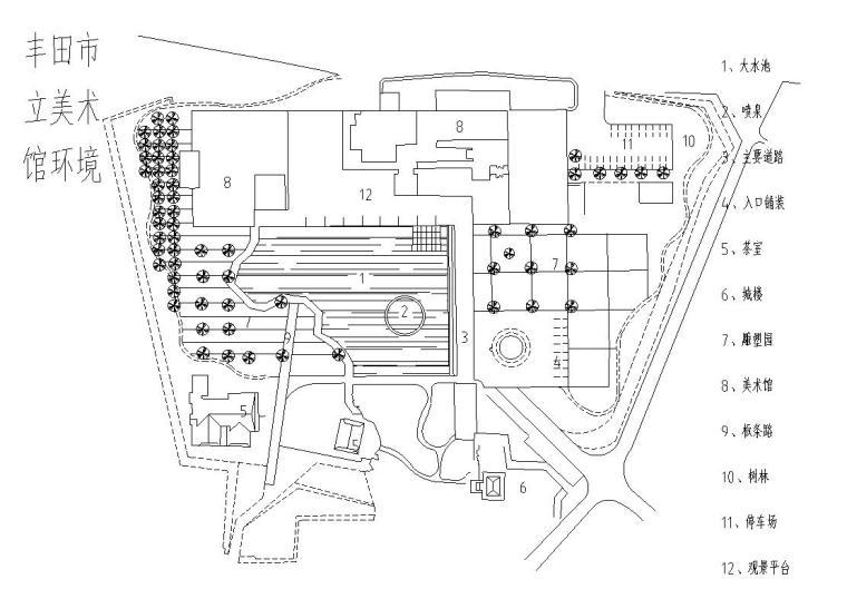 景观节点平面图-公园设计图集_6