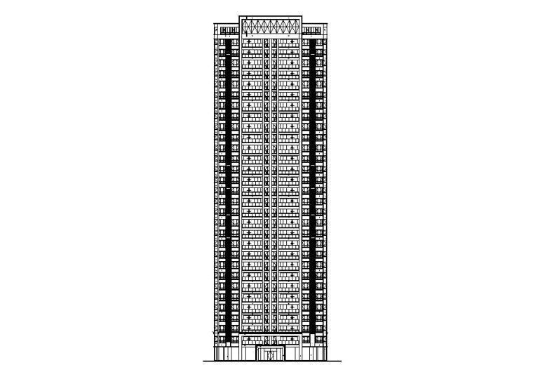 [贵州]高层住宅CAD施工图纸2020_1