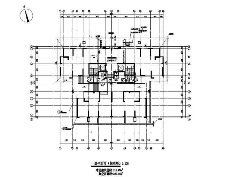 [贵州]高层住宅CAD施工图纸2020_2