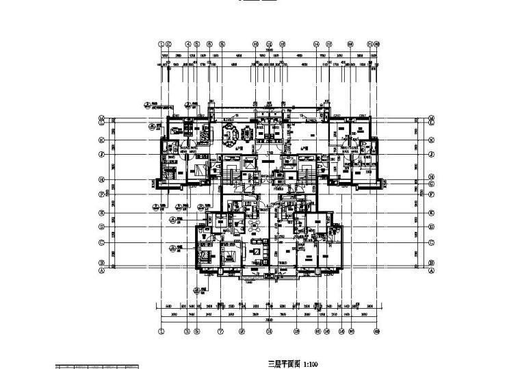 [贵州]高层住宅CAD施工图纸2020_4