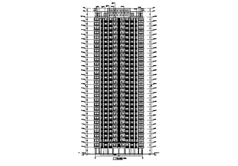 [贵州]高层住宅CAD施工图纸2020_5