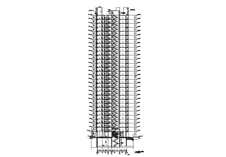 [贵州]高层住宅CAD施工图纸2020_7