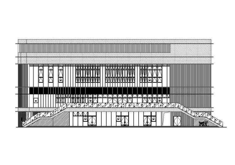 [江苏]三层食堂建筑施工图纸设计CAD2019_1