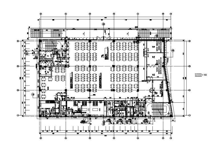 [江苏]三层食堂建筑施工图纸设计CAD2019_2