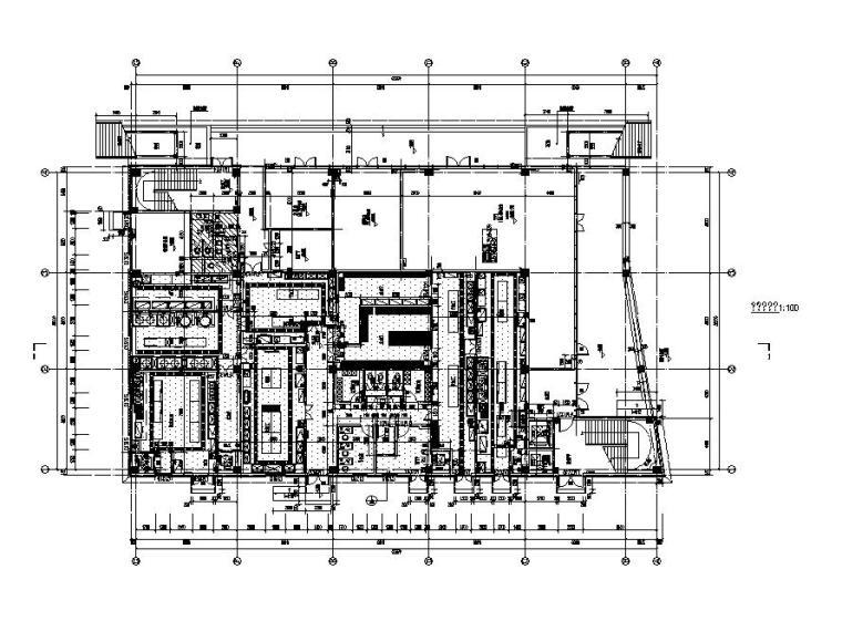 [江苏]三层食堂建筑施工图纸设计CAD2019_4