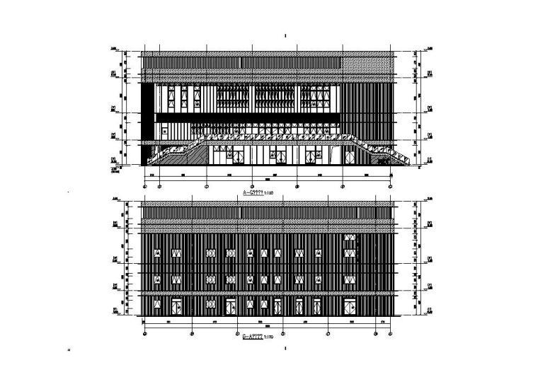 [江苏]三层食堂建筑施工图纸设计CAD2019_5