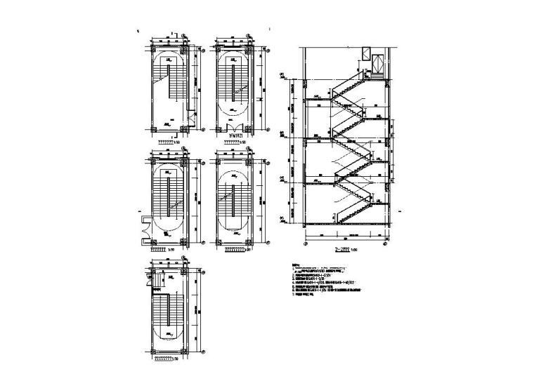 [江苏]三层食堂建筑施工图纸设计CAD2019_9