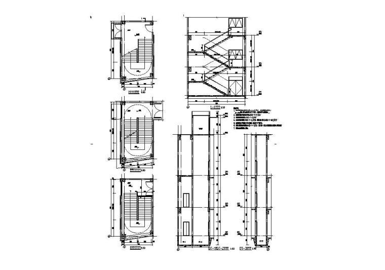 [江苏]三层食堂建筑施工图纸设计CAD2019_7