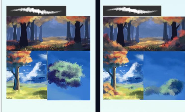 实用景观植物类笔刷合集-云,草和树叶刷PSD_5