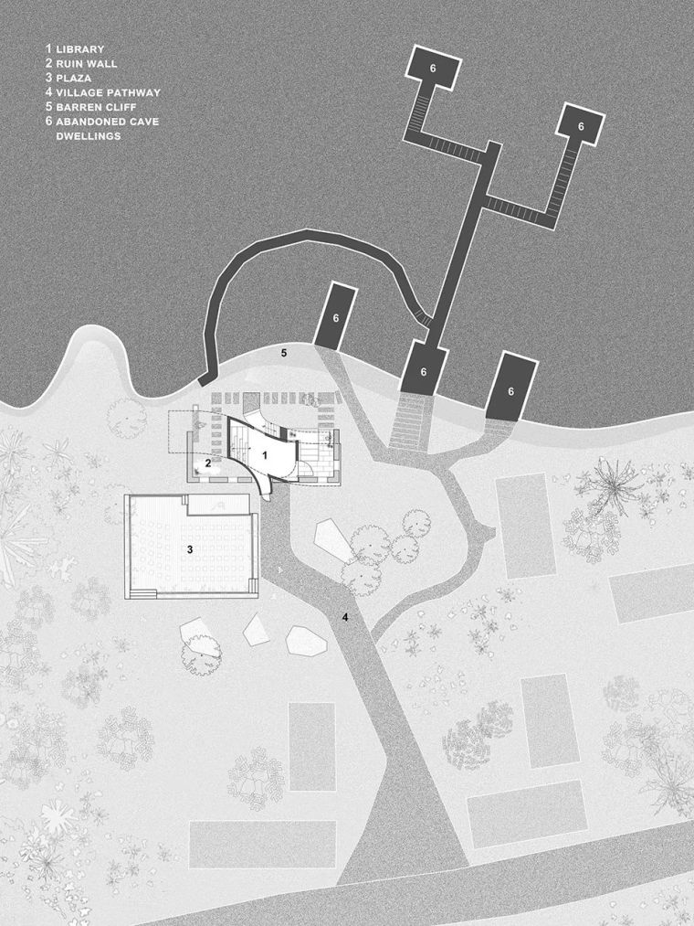 废墟书屋:连接窑洞与荒山_29