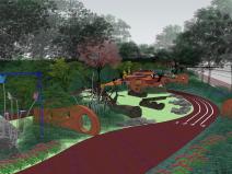 流线型儿童乐园景观SU模型设计