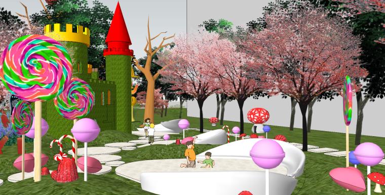 住宅儿童卡通乐园SU景观模型设计_5