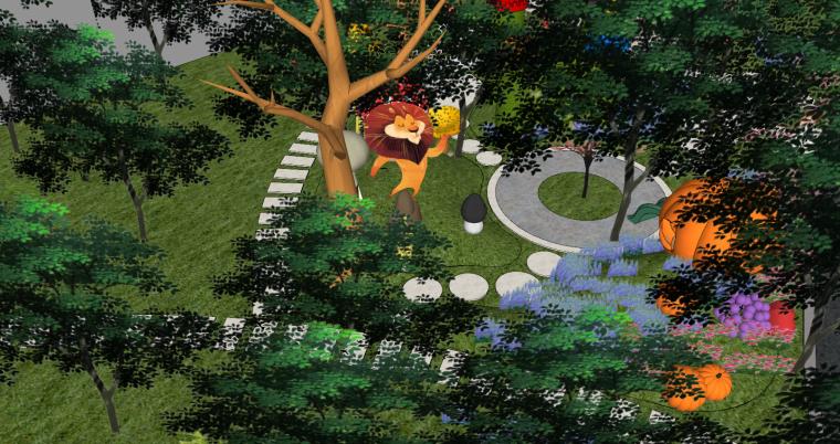住宅儿童卡通乐园SU景观模型设计_6