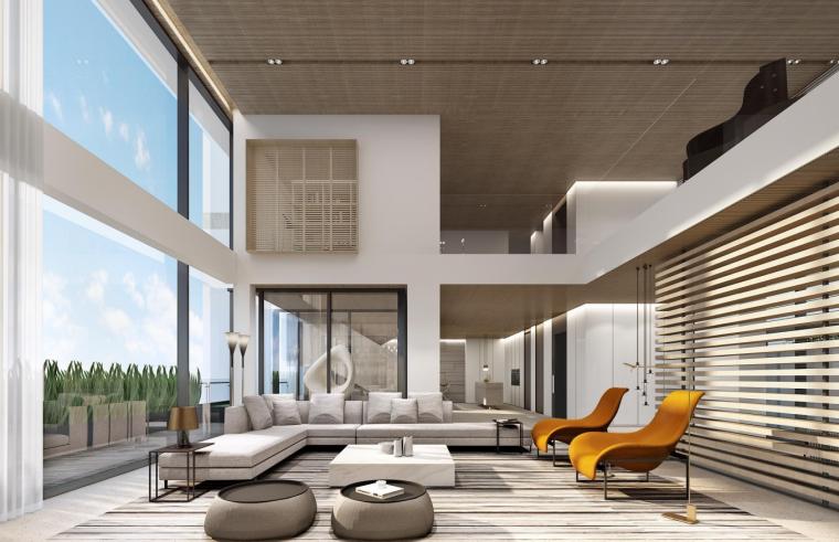 深圳六层半山私人豪宅效设计方案+灯光软装_1