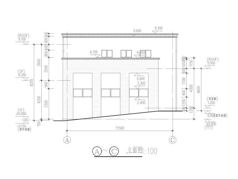 [江苏]三层配套商业建筑施工图CAD2020_7