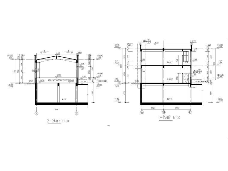 [江苏]三层配套商业建筑施工图CAD2020_8