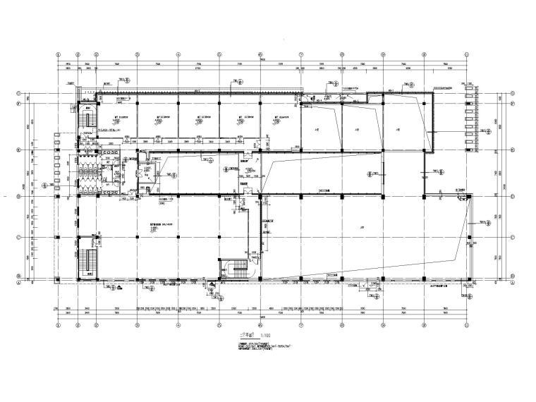 [江苏]坡屋顶三层配套商业施工图CAD2020_3