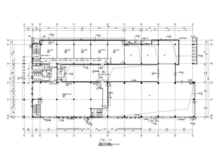 [江苏]坡屋顶三层配套商业施工图CAD2020_4